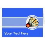Badminton bleu carte de vœux