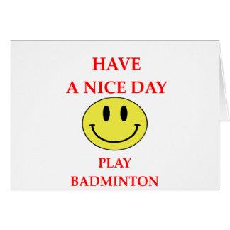 BADMINTON CARD