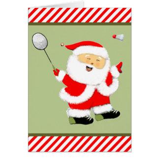 Badminton Christmas Card