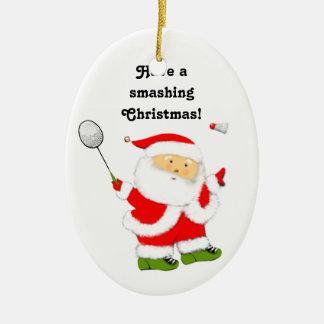 Badminton Christmas Collectible Ceramic Ornament