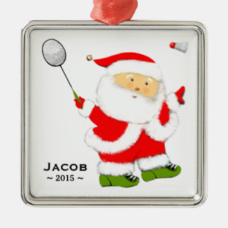 Badminton Christmas Collectible Metal Ornament