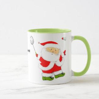 Badminton Christmas Mug