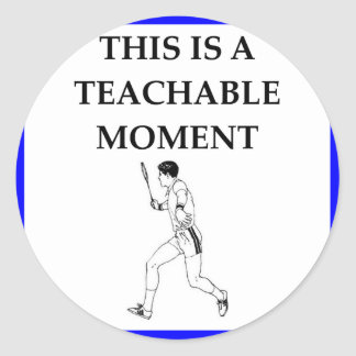 badminton classic round sticker