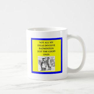 badminton coffee mug