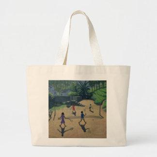 Badminton Coonoor India Large Tote Bag
