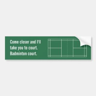 Badminton Court Bumper Sticker