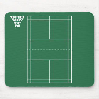 Badminton Court Mousepad