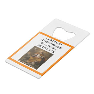 badminton credit card bottle opener