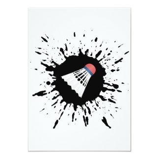 Badminton Explosion Card