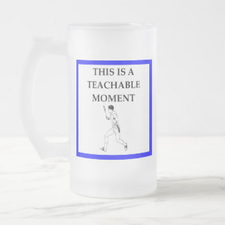 badminton frosted glass beer mug