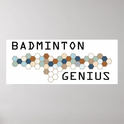Badminton Genius Print