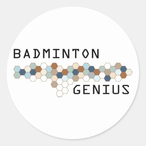 Badminton Genius Round Sticker