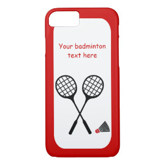 Badminton gifts, racquet and shuttlecock custom iPhone 7 case