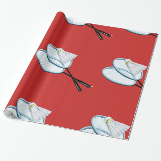 Badminton Glossy Wrapping Paper