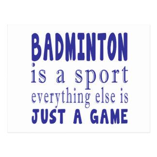 BADMINTON JUST A GAME POSTCARD