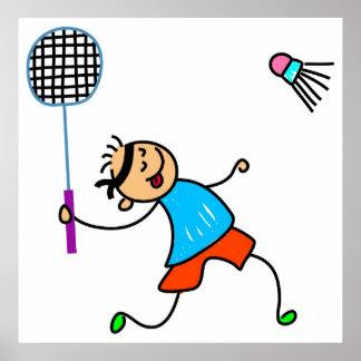 Badminton Kid Poster