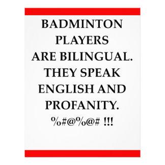 BADMINTON LETTERHEAD