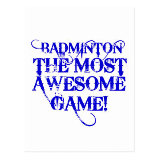 badminton most awesome game! postcard