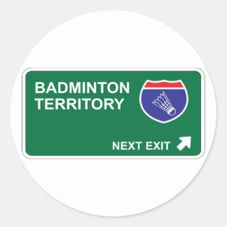 Badminton Next Exit Classic Round Sticker