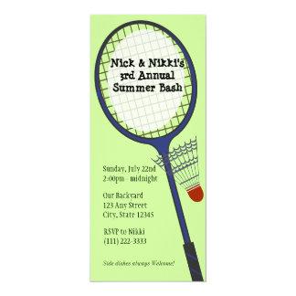 "Badminton Party / Picnic 4"" X 9.25"" Invitation Card"
