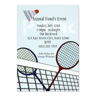 Badminton Party / Picnic Card