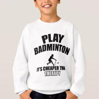 Badminton player designs sweatshirt