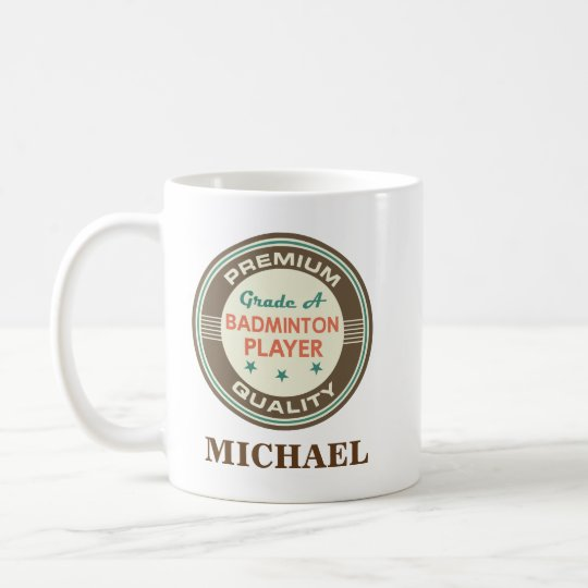 Badminton Player Personalized Office Mug Gift