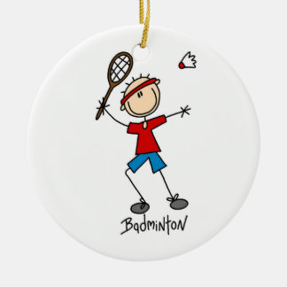 Badminton Player T-shirts and Gifts Ceramic Ornament