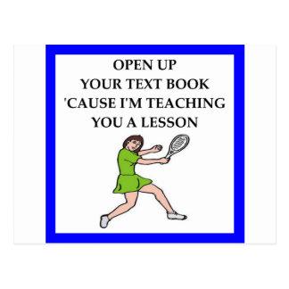 badminton postcard