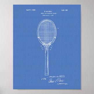 Badminton Racket 1925 Patent Art Blueprint Poster