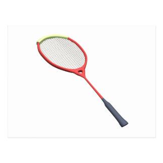 Badminton Racquet Postcard
