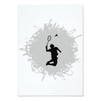 Badminton Scribble Style Card
