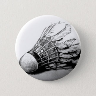 Badminton shuttlecock button pin