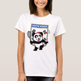 Badminton South Korea Panda T-Shirt