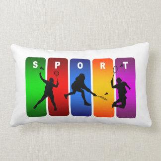 Badminton Super Cool Sport Design Lumbar Pillow