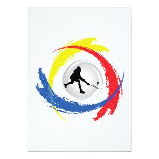 Badminton Tricolor Emblem Card