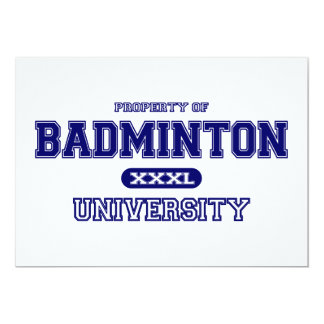 Badminton University Card