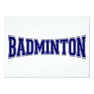 Badminton University Style Card
