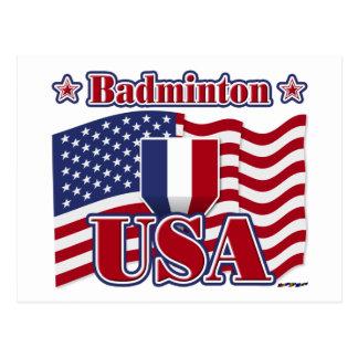 Badminton USA Postcard