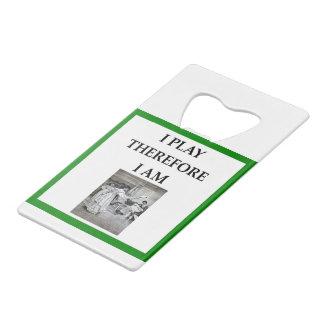 badminton wallet bottle opener