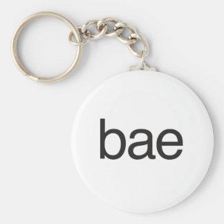 bae basic round button keychain