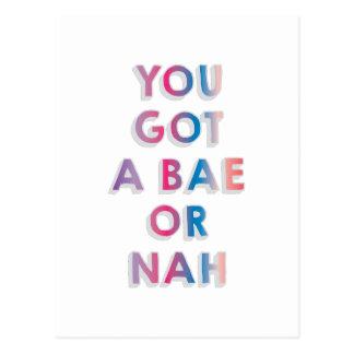 Bae or Nah Postcard