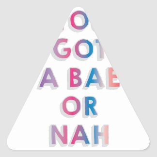 Bae or Nah Triangle Sticker