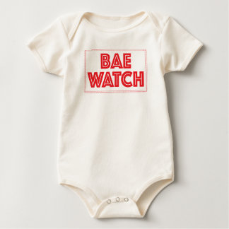 Bae watch funny bay watch movie reference baby bodysuit