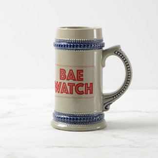 Bae watch funny bay watch movie reference beer stein