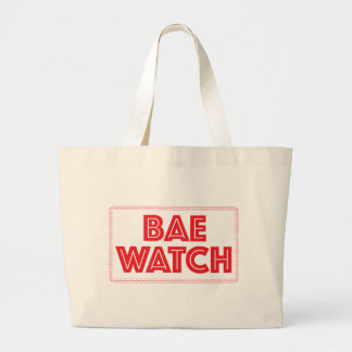 Bae watch funny bay watch movie reference large tote bag