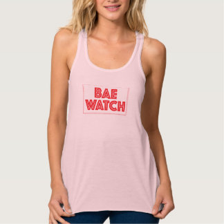 Bae watch funny bay watch movie reference tank top