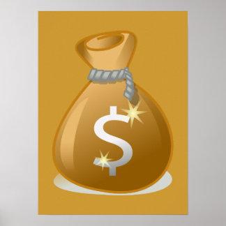 bag-147782 bag money wealth revenue finance dollar poster