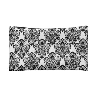 Bag Damask Print Cosmetics Bags