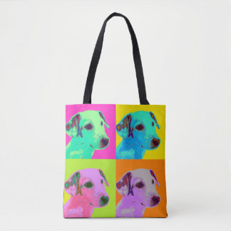 Bag. Dog, Jack Russels Terrier. Popart Design Tote Bag